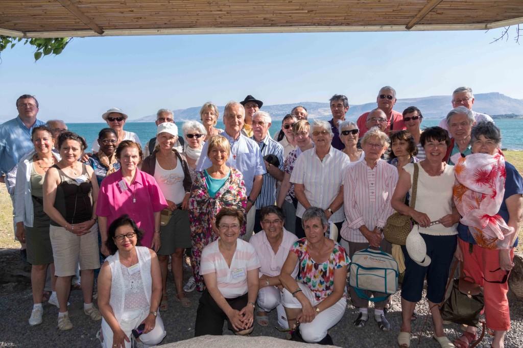 Groupe du voyage en Terre sainte avec Croire et Panorama